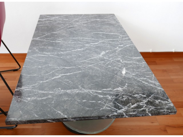 Marble table tray glass 110x60 table coffee table living for Kleiner marmortisch