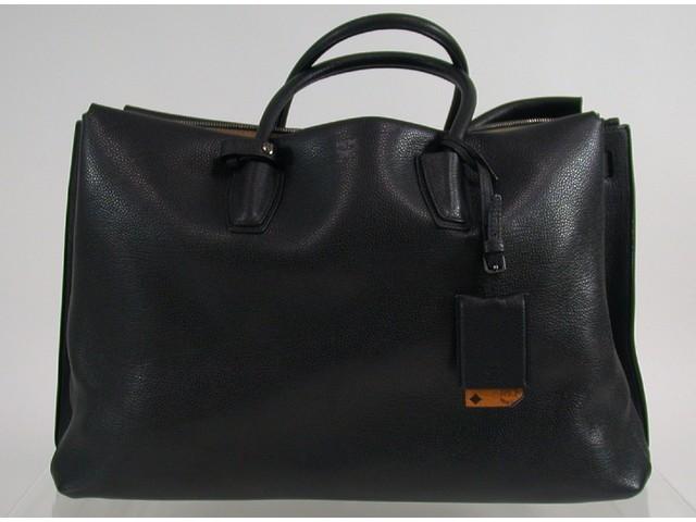 original mcm milla tasche handtasche bag tote extra large black schwarz 7 ebay. Black Bedroom Furniture Sets. Home Design Ideas